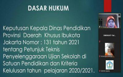 Sosialisai Ujian Sekolah – Orang Tua & Peserta Didik SMKN 8 Jakarta – Tahun 2021